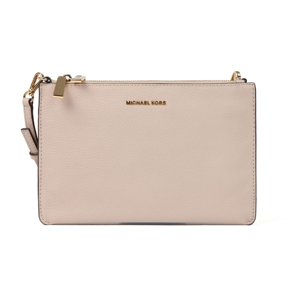Michael Kors Womens Pink Large Double Pouch Crossbody Bag main image
