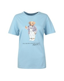 Polo Ralph Lauren Womens Blue Big Bear T Shirt