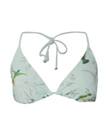 Ted Baker Womens Green Daisla Fortune Triangle Bikini Top