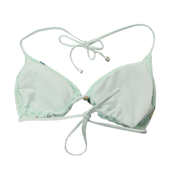 Ted Baker Womens Green Daisla Fortune Triangle Bikini Top main image