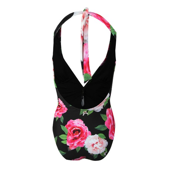 Ted Baker Womens Black Velily Magnificent Open Back Swimsuit main image