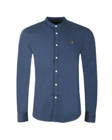 Farah Mens Blue Owens Grandad Shirt