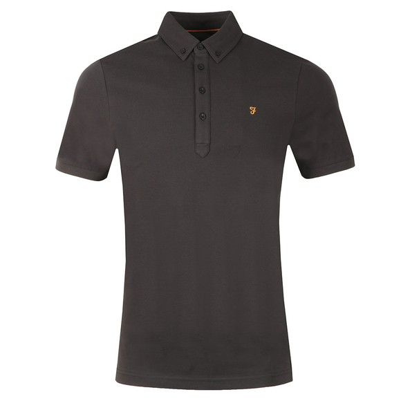 Farah Mens Black Merriweather Polo Shirt main image