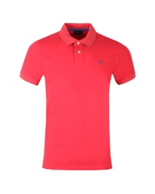 Gant Mens Red Contrast Collar Polo