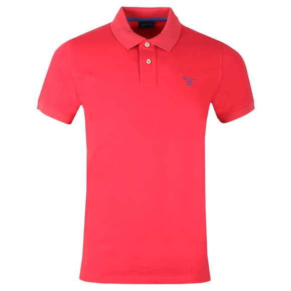 Gant Mens Red Contrast Collar Polo main image