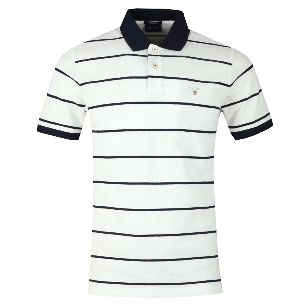 Breton Stripe Pique Rugger Polo main image