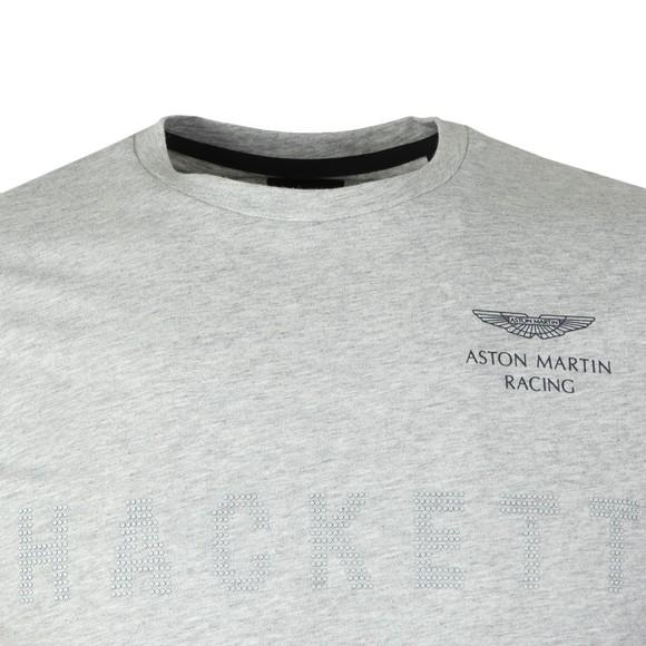 Hackett Mens Grey AMR Dot Print Tee main image