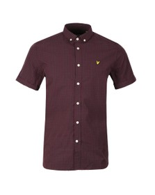 Lyle and Scott Mens Black Gingham Shirt