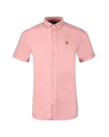 Lyle and Scott Mens Pink Oxford Shirt