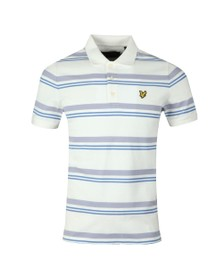 Lyle and Scott Mens Off-White Stripe Polo