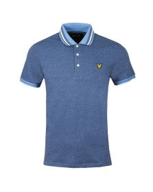 Lyle and Scott Mens Blue Oxford Tipped Polo