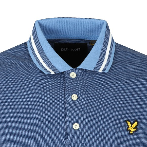 Lyle and Scott Mens Blue Oxford Tipped Polo main image