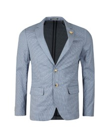 Scotch & Soda Mens Blue Chic Pattern Blazer