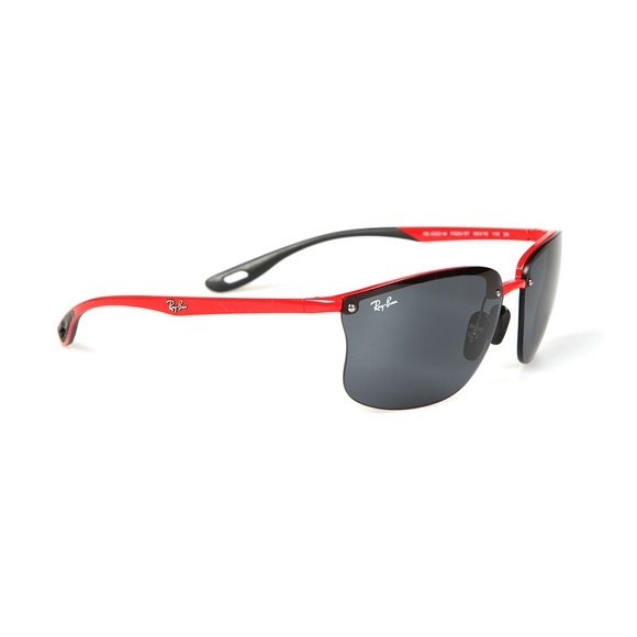 Ray-Ban Mens Black RB4322M Scuderia Ferrari Sunglasses main image