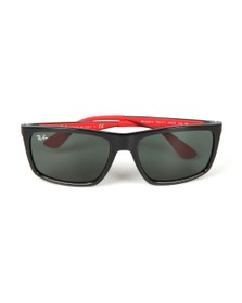 Ray-Ban Mens Black RB4228M Scuderia Ferrari Sunglasses