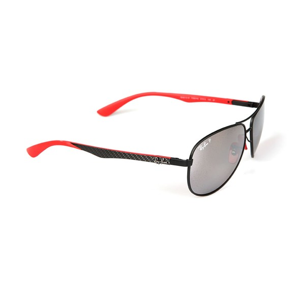 Ray-Ban Mens Black ORB8313M Scuderia Ferrari Sunglasses main image