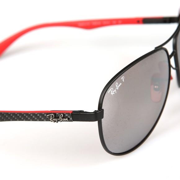 Ray-Ban Mens Black ORB8313M Scuderia Ferrari Sunglasses main image