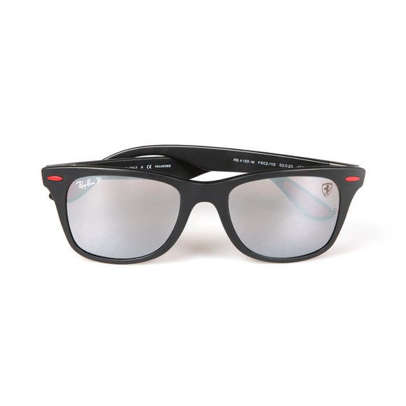 Ray-Ban Mens Black RB4195M Scuderia Ferrari Sunglasses