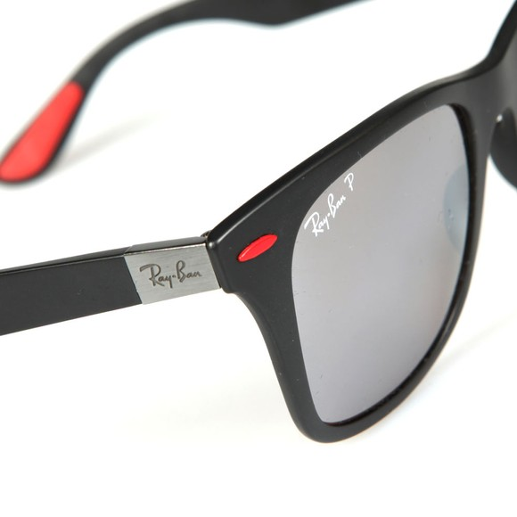 Ray-Ban Mens Black RB4195M Scuderia Ferrari Sunglasses main image