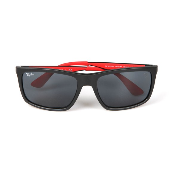 Ray-Ban Mens Black RB4228M Scuderia Ferrari Sunglasses main image