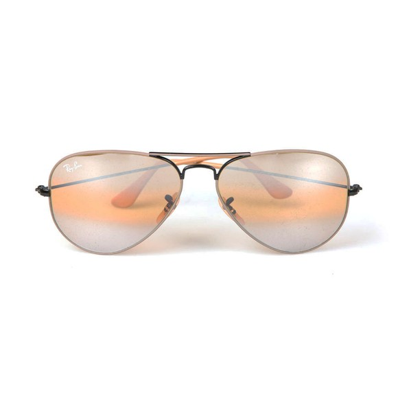 Ray-Ban Mens Black ORB3025 Aviator Sunglasses main image