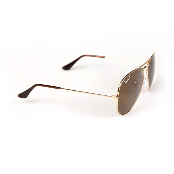 Ray-Ban Mens Gold ORB3025 Aviator Sunglasses main image