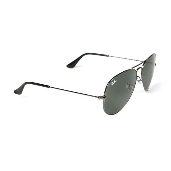 Ray-Ban Mens Grey ORB3025 Aviator Sunglasses