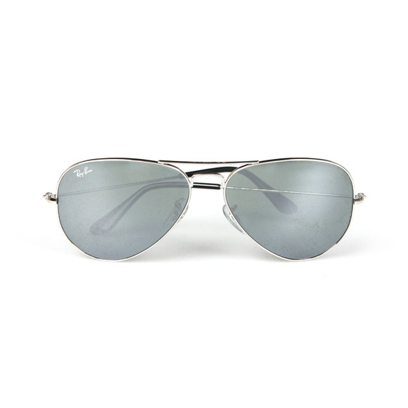 Ray-Ban Mens Silver ORB3025 Aviator Sunglasses main image