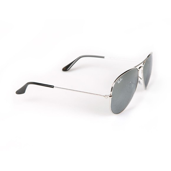 Ray-Ban Mens Silver ORB3025 Aviator Sunglasses