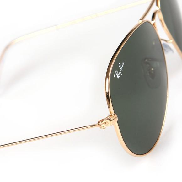 Ray-Ban Mens Gold ORB3025 Aviator Sunglasses main image