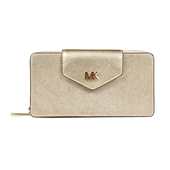 Michael Kors Womens Gold Small Conv Phone Crossbody