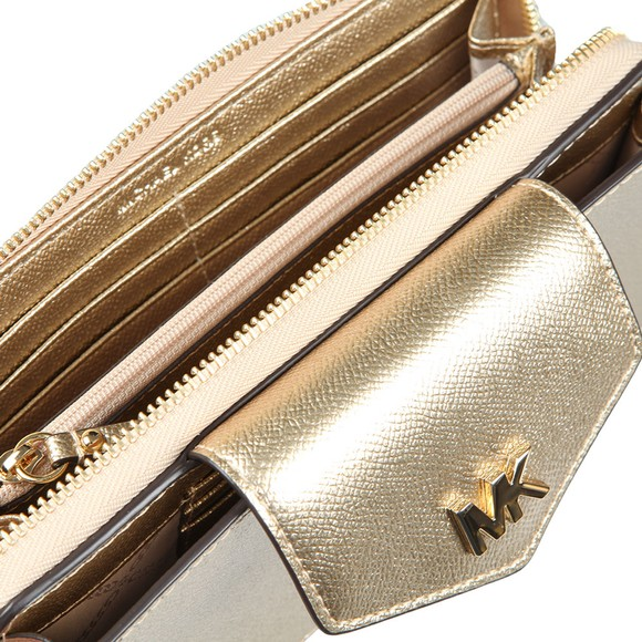 Michael Kors Womens Gold Small Conv Phone Crossbody main image