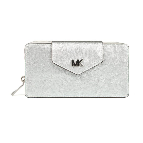 Michael Kors Womens Silver Small Conv Phone Crossbody main image