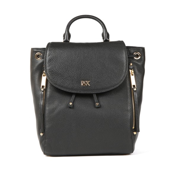 Michael Kors Womens Black Evie Backpack main image
