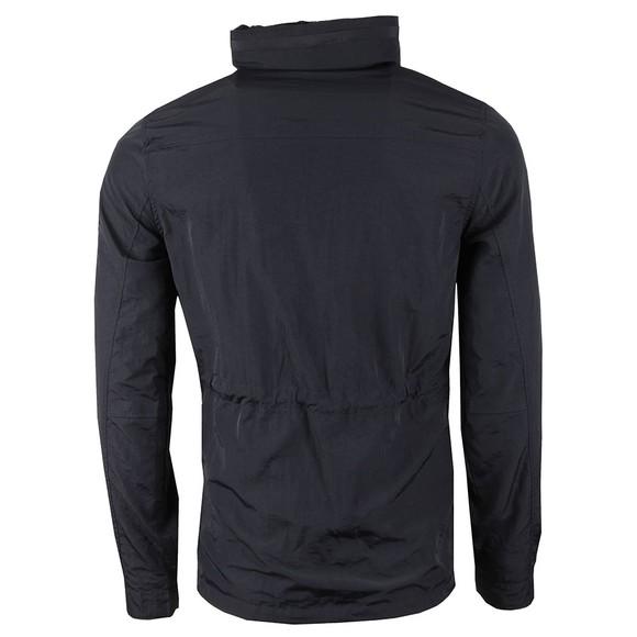 Marshall Artist Mens Blue Garment Dyed Funnel Neck Field Jacket main image