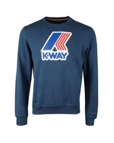 K-Way Mens Blue Augustine Macro Logo Sweatshirt