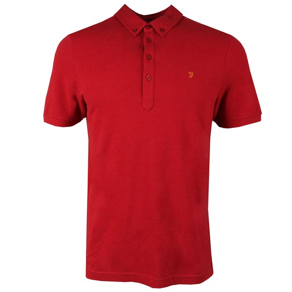 Farah Mens Red Merriweather Polo Shirt