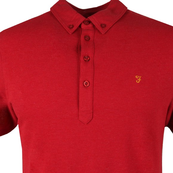 Farah Mens Red Merriweather Polo Shirt main image