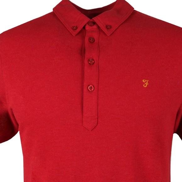 Farah Mens Red Merriweather Polo Shirt main image