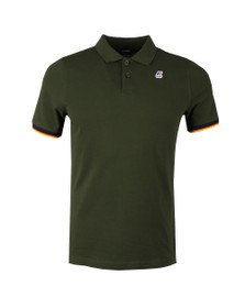 K-Way Mens Green Vincent Contrast Polo Shirt