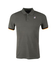 K-Way Mens Grey Vincent Contrast Polo Shirt