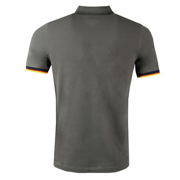K-Way Mens Grey Vincent Contrast Polo Shirt main image