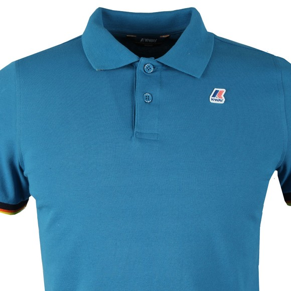 K-Way Mens Blue Vincent Contrast Polo Shirt main image