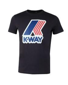 K-Way Mens Blue Pete Macro Logo T Shirt