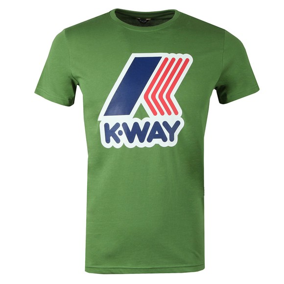 K-Way Mens Green Pete Macro Logo T Shirt main image