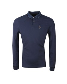 Luke Mens Blue Long New Bil Polo