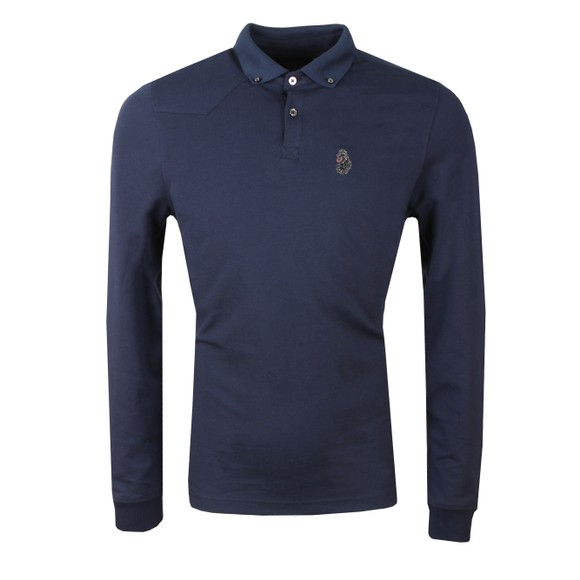 Luke Mens Blue Long New Bil Polo main image
