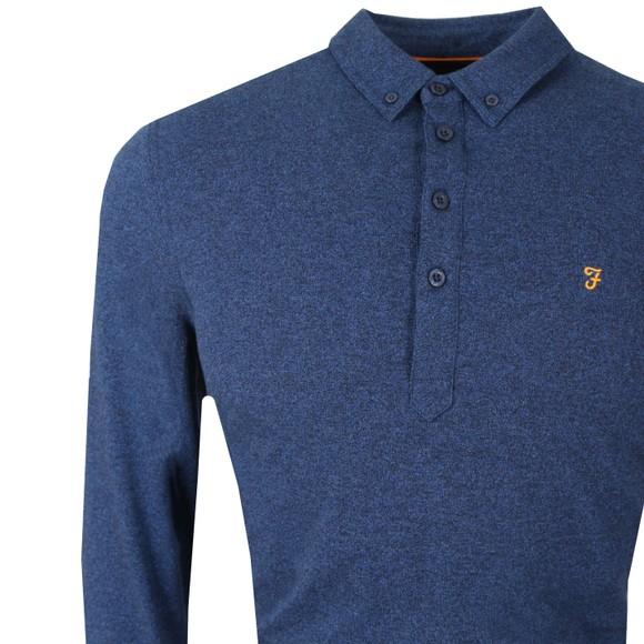 Farah Mens Blue Merriweather LS Polo Shirt main image