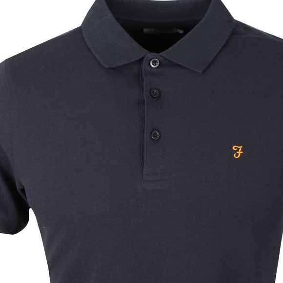 Farah Mens Blue Blaney Polo Shirt main image