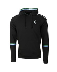 Gym King Mens Black Lewis Retro Taped Hoody